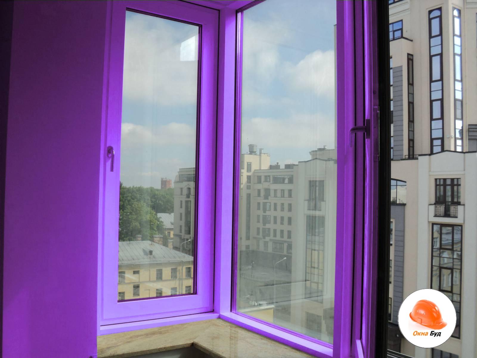 Покраска установленных окон киев и киевская область-окна буд.