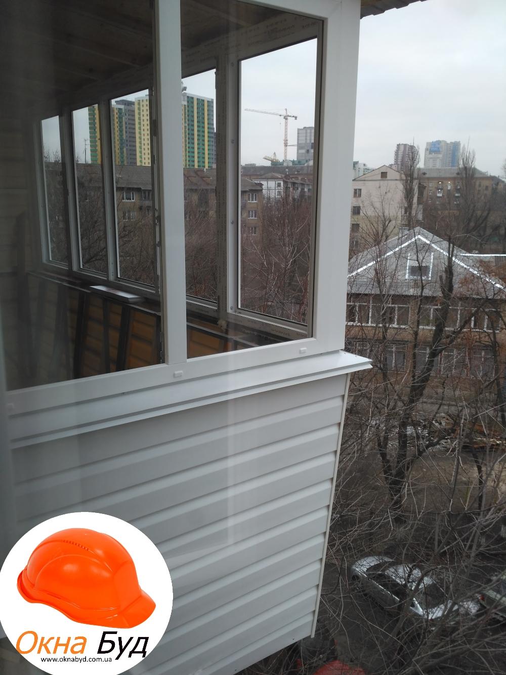 Балкон под ключ хрущевка, стандартный балкон, остекление бал.